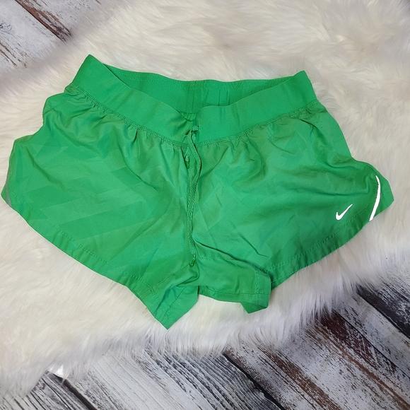Nike Dri-Fit Running Shorts Green sz Large